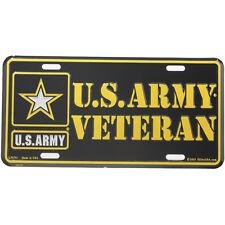 US Army Veteran Logo License Plate