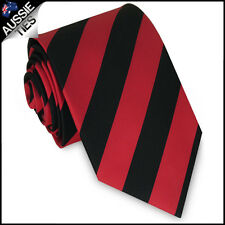 MENS RED & BLACK STRIPE SPORT TIE stripes striped necktie