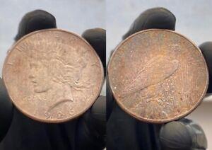 1926-S $1 Peace Silver Dollar, Beautifully Purple Toned UNC