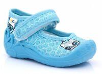 Girls canvas shoes nursery slippers size 6UK Baby Infant NEW Pumps Balerina