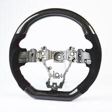 Flat Bottom Steering Wheel Carbon Suede For Subaru Levorg/WRX/Sti