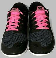NIKE Free 5.0 Women's Size 8.5 Shoes Athletic Sneakers Black Hot Pink 642199-062