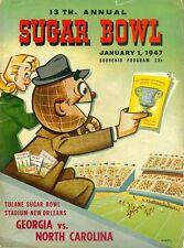 1947 GEORGIA BULLDOGS vs NORTH CAROLINA TAR HEELS NCAA Football Progam COVER ART