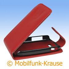 Flip Case Etui Handytasche Tasche Hülle f. Samsung Galaxy Star Duos (Rot)