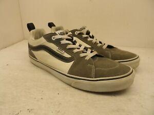 Vans Men's Low-Cut Old Skool Canvas Casual Shoes Grey/White Size 12M