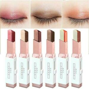 Double Colors Gradient Cream Eyeshadows Stick Two Tone S0J0 Bar Shadow Eyes Gift