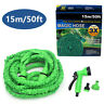 50FT Expandable Adjustable Spray Flexible Car Garden Water Hose w/ Spray Nozzle