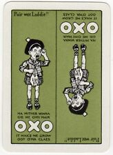 Playing Cards 1 Swap Card - Old Vintage Wide OXO Advertising CRYING SCOTTISH BOY