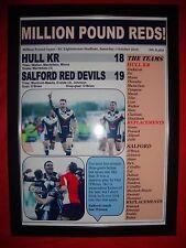 Hull KR 18 Salford Red Devils 19 - 2016 Million Pound Game - framed print
