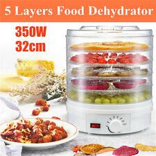 350W Food Dehydrator Drying Machine Fruit beef Jerky 5 Trays Thermostat