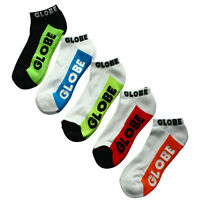 Globe Socks 5 Pack Multi Brights Ankle White Size 7-11 Skateboard Sox