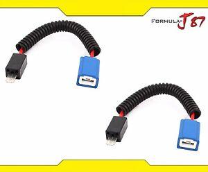 Wire Halogen H1 Ceramic Fog Light Two Harness Bulb Repair Plug Wiring Socket OE