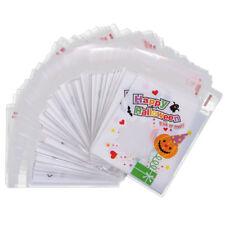 100x Halloween Treat Bags Pumpkin Cookie Candy Sweet Food Packaging Gift Bag