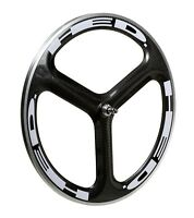 HED.3 Tri-spoke Wheel Decal/Sticker Set of 12 White For 45mm+ rim one piece