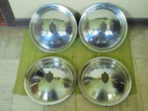 """49 50 Lincoln HUB CAPS 15"""" Set of 4 Wheel Covers Hubcaps 1949 1950"""