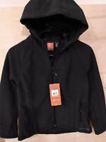 Merrell Womens Layne Zip Up Hooded Softshell Black Jacket Size Small