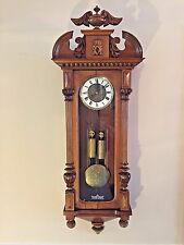 Antique 1885 Gustav Becker Vienna Regulator Wall Clock Time & Strike Runs