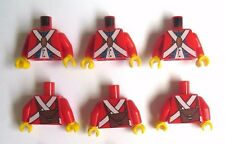 LEGO 6 Torso Body  For Red Imperial Soldier Guard Pirate  Minifigures Figure