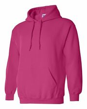 7 Gildan Heliconia Adult Hooded Sweatshirts Bulk Wholesale S-XL Hoodie HOT PINK