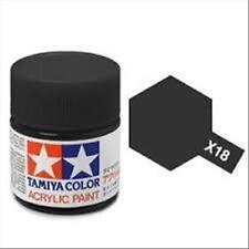 Tamiya Mini X18 SEMI GLOSS BLACK - Acrilico Semi-Lucido 10ml