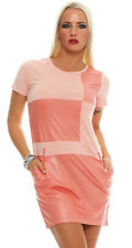 5678 Kurzarm Minikleid im eleganten Etui-Stil Shirt-Kleid