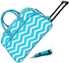 "Women's Chevron Print 21"" Rolling Duffel Bag Suitcase Garment Carry-on Duffel"