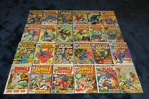 JUNGLE ACTION 5 6 1 - 24 BLACK PANTHER 1ST SOLO SERIES KILLMONGER COMPLETE LOT 8
