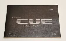 2014 CADILLAC CUE NAVIGATION SYSTEM OWNERS MANUAL OPERATORS GUIDE SRX XTS ATS