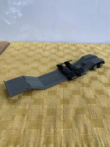 "Ertl Diecast Lowboy Flat Bed Semi-Trailer. 1/64, 8.5"" Long."