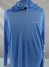 Mens Columbia Pfg Terminal Tackle Hoodie Shirt Long sleeve Sz L Large Upf 50