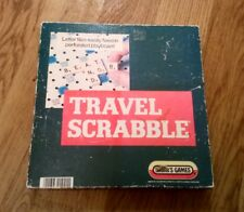 VINTAGE TRAVEL SCRABBLE SPEARS GAMES CLEAR TILE RACKS PERFORATED PLAYBOARD