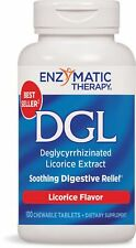Enzymatic Therapy DGL Licorice Flavor 100 Chewable Tablets. Pack of 1 Bottle