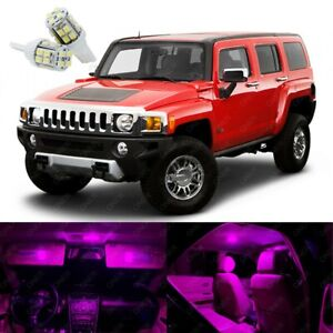 13 x Pink LED Interior Light Package Kit Best Deal For Hummer H3 2006 - 2010