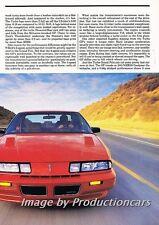 1989 Pontiac Grand Prix Turbo Original Car Review Report Print Article J775