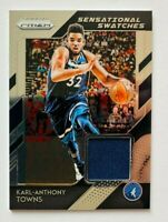 2018-19 Panini Prizm Karl Anthony Towns Jersey Card, Timberwolves!
