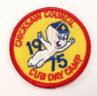 Vtg Casper 1975 Cub Day Camp Chickasaw Council Boy Scouts of America BSA Patch