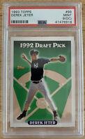 1993 Topps 98 DEREK JETER RC Rookie Card PSA 9 (OC) MINT Yankees HoF registry