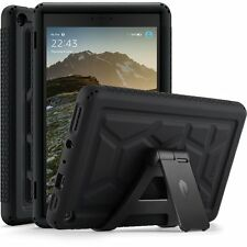 Poetic TurtleSkin Black Case【Heavy Duty】Silicone Case For Amazon Fire HD 8(2017)