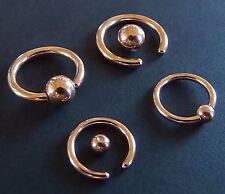 Klemmkugelring Piercing Ring BCR gold rose TITAN STUDIO WARE Septum Helix Intim