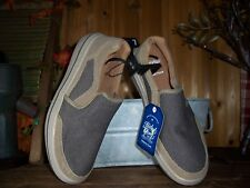 FADED GLORY MENS CASUAL SLIPPERS SIZE 7 TAN MEMORY FOAM LIGHT WEIGHT CANVAS NEW