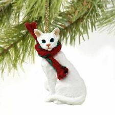 Oriental Shorthaired White Cat Ornament