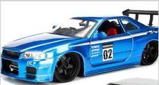 Jada 1/24 JDM Tuners 2002 Nissan Skyline GT-R (R34) Blue MiB