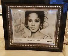 Whitney Houston 8x10 b&w photo 1980s arista records autographed