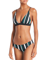 DOLCE VITA New Women's Multicolor Striped Triangle Bikini Swimsuit Set S Small