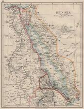 RED SEA. Egypt Eritrea Hedjaz Asir Yemen. Nile valley. Sinai.  JOHNSTON 1900 map