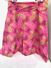 Tranquility Pink Short Flare Womens Mini Skirt Medium