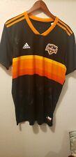 Houston Dynamo Jersey rare signed by team black and orange sz L adidas MLS 2018