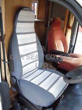 Para adaptarse a un PEUGEOT BOXER AUTOCARAVANA, cubiertas de asiento, 2006, MH-158 Rayas Gris George