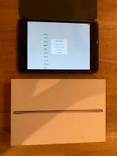 Apple iPad mini 4 128GB, Wi-Fi  Space Gray W/ BOX AND CASE HARDLY USED bundle