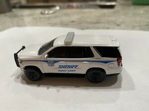 Custom 1/64 scale Greenlight 2021 Chevrolet Tahoe Tarrant County TX Sheriff SUV